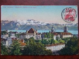 SUISSE - LAUSANNE - Cathédrale, Chateau Et Les Alpes. - VD Vaud
