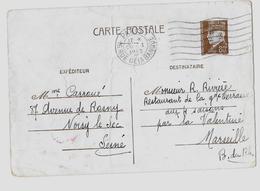 PARIS - Bureau N°1 « 16 Rue De La Banque » Correspondance Interzone  CPE Ordinaire - Tarif à 80c. (4.1.1942/28.2.1942) - Cartes Postales Types Et TSC (avant 1995)