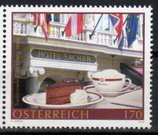 AUSTRIA,  2018, MNH, HOTEL SACHER, SWEETS, CAKES, SACHERTORTE, COFFEE, 1v - Hotels, Restaurants & Cafés