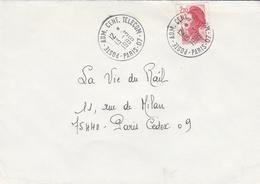 LSC 1989 - Cachets  - POSTE  ADM. CENT. TELECOM. - PARIS 07 - Marcofilia (sobres)