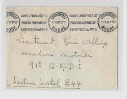 69 RHÔNE  « LYON »    LSI - 20gr. - Tarif En Franchise Militaire (26.8.1939/15.10.1944) (Arrêté Du 26.8.1939)  Obl. KRAG - Marcophilie (Lettres)
