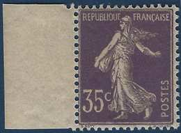 FRANCE Semeuse 1903 N°136a** BDFeuille 35c Violet Tres Frais Signé Calves - 1906-38 Semeuse Camée