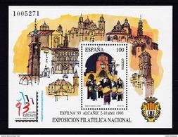 ESPAÑA 1993 - Exposicion Filatelica Nacional Hoja Bloque Nueva Sin Fijasellos -MNH- - Blocs & Feuillets