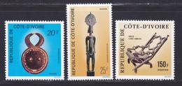 COTE D'IVOIRE N°  399 à 401 ** MNH Neufs Sans Charnière, TB (D8242) Art Ivoirien - 1976 - Côte D'Ivoire (1960-...)