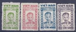 180030940  VIETNAM  YVERT  .Nº   40/4  */MH  (NO  GUM)  (EXCEPT  Nº 42) - Vietnam