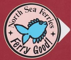 Vis Fish Poisson North Sea Ferries Ferrie Ferry Good Sticker Autocollant  Aufkleber Adesivo - Autocollants