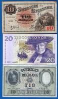 Suède  3  Billets - Suède