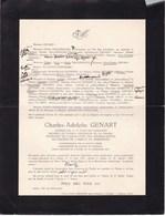 FOSSES IXELLES Charles-Adolphe GENART Conseiller Cour De Cassation Association Anciens De MAREDSOUS 1870-1942 - Décès