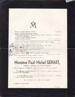 BRACQUEGNIES BOUVIGNES Paul-Michel GENART Ingénieur-technicien De L'Institut Gramme 29 Ans 1941 JADOT DEBOUCHE - Décès