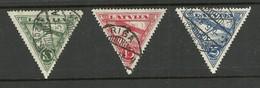 LETTLAND Latvia 1931 Michel 177 - 179 A O - Letland