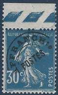 FRANCE Préoblitéré Type N° 60**  30c Bleu Bord De Feuille Bon Centrage Fraicheur Postale Signé Calves - Préoblitérés