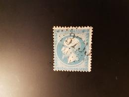 N°22, 20 Cts Bleu, GC 3735, St Malo De La Lande, Manche. - Marcophilie (Timbres Détachés)