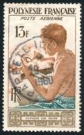 POLYNESIE 1958 - Yv. PA 1 Obl.   Cote= 5,00 EUR - Graveur Sur Nacre  ..Réf.POL23463 - Gebruikt
