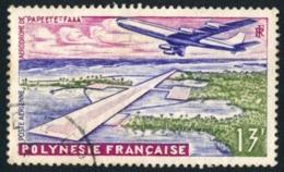 POLYNESIE 1960 - Yv. PA 5 Obl.   Cote= 2,50 EUR - Aéroport Faaa De Papeete  ..Réf.POL23464 - Gebruikt