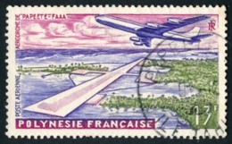 POLYNESIE 1960 - Yv. PA 5 Obl.   Cote= 2,50 EUR - Aéroport Faaa De Papeete  ..Réf.POL23465 - Gebruikt