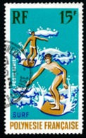 POLYNESIE 1971 - Yv. PA 48 Obl.   Cote= 3,90 EUR - Sports Nautiques : Surf  ..Réf.POL23467 - Airmail