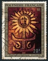 POLYNESIE 1973 - Yv. PA 77 Obl.   Cote= 2,50 EUR - Tableau De J-F Favre  ..Réf.POL23469 - Aéreo