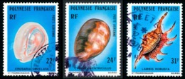 POLYNESIE 1978 - Yv. PA 132 133 134 Obl.   Cote= 4,65 EUR - Coquillages (3 Val.)  ..Réf.POL23478 - Poste Aérienne