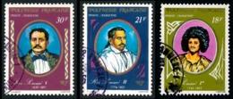 POLYNESIE 1976 - Yv. PA 106 107 109 Obl.   Cote= 4,10 EUR - Dynastie Des Rois Pomaré (3 Val.)  ..Réf.POL23485 - Poste Aérienne