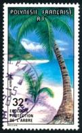 POLYNESIE 1977 - Yv. PA 128 Obl.   Cote= 4,50 EUR - Ecologie. Protection De L'arbre  ..Réf.POL23486 - Poste Aérienne