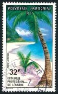 POLYNESIE 1977 - Yv. PA 128 Obl.   Cote= 4,50 EUR - Ecologie. Protection De L'arbre  ..Réf.POL23487 - Poste Aérienne