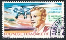 POLYNESIE 1977 - Yv. PA 125 Obl.   Cote= 4,30 EUR - Charles Lindberg, Pilote D'avion  ..Réf.POL23488 - Poste Aérienne