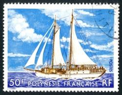 POLYNESIE 1977 - Yv. 116 Obl.   Cote= 3,00 EUR - Bateau Voilier 2 Mats  ..Réf.POL23490 - Polynésie Française