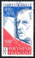 POLYNESIE 1980 - Yv. 159 Obl.   Cote= 3,90 EUR - Général De Gaulle  ..Réf.POL23493 - Polynésie Française