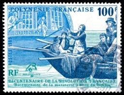 POLYNESIE 1989 - Yv. 336 Obl.  - Révolution Française. Bateau 'Bounty'  ..Réf.POL23494 - Oblitérés