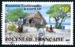 POLYNESIE 1989 - Yv. 327 Obl.  - Le Coprah. Traitement Des Fibres  ..Réf.POL23495 - Polynésie Française