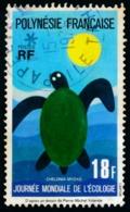 POLYNESIE 1976 - Yv. 108 Obl.   Cote= 5,00 EUR - Ecologie: Tortue Marine  ..Réf.POL23497 - Polynésie Française