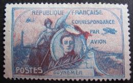 DF50500/4 - 1920 - VIGNETTE GUYNEMER : CORRESPONDANCE PAR AVION (PRECURSEUR POSTE AERIENNE) - Cote : 20,00 € - Poste Aérienne