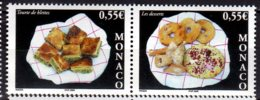 2005 Monaco -Traditional Monegasque Deserts - 2 Setenant - MNH** MiNr. 2748 - 2749 - Alimentation