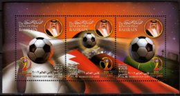 2002 Bahrain - Football World CUP 2002 In Japan And S. Korea - MS - MNH** MI B 14 Ball, Flags, Fiels, Earth - Bahreïn (1965-...)