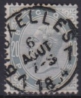 Belgie    .    OBP    .    39       O       .      Gebruikt .   /   .  Oblitéré - 1883 Leopold II