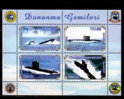 2004 Turkey - Turkish Navy - Submarines Of Turkish Navy - MS - MNH ** MiNr. 3397 - 3400 (Block 53) TCG 18 Mart S 355 - 1921-... Republic