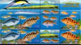 2005 S. Korea - Fauna Of Marado - 2 Strips Top - MNH See Description MiNr. 2451 - 2454 Fish, LIghthouse, Corrals - Corée Du Sud