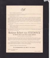 14-18 Médaille De La Reine Elisabeth Gabrielle MEEUS épouse Robert Van STRYDONCK 1880-1933 Anvers Deurne - Overlijden