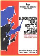 Tematica - Sindacati - LEGA Federazione Delle Cooperative - 1987 - La Cooperazione Italiana Oggetto Di Curiosità Britann - Sindacati