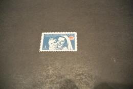 K15905 - Stamp Mint Hinged Turkey - 1954 - 1k Deep Blue -  Nurse And Baby - Unused Stamps