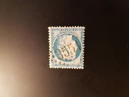 N°60 A,  25 Cts Bleu , GC 3551, St Clair Sur L'Elle, Manche. - Marcophilie (Timbres Détachés)