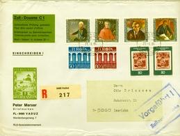 1984 , LIECHTENSTEIN , SOBRE CERTIFICADO , VADUZ - ISELOHN , FRANQUEO MÚLTIPLE, FORMATO 23X16,5 - Liechtenstein