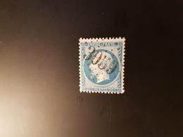 N°22,  20 Cts Bleu, GC 3059, Quettehou, Manche. - Marcophilie (Timbres Détachés)