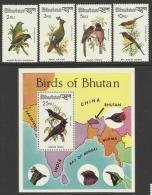 BHUTAN  1982  BIRDS  SET &  MS  MNH - Non Classés