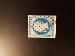 N°14, 20 Cts Bleu, PC  2545, Port Bail, Manche. - Marcophilie (Timbres Détachés)