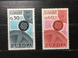 """ANDORRE / FRENCH ANDORRA 1967. """"EUROPA""""  Yvert 179/180 - Neufs**/MNH Luxe. - French Andorra"""