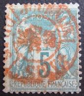 DF50500/10 - SAGE TYPE II N°75 ☉ CACHET ROUGE DES IMPRIMES - 1876-1898 Sage (Type II)