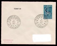 TEM67-05 : Dept 67 (Bas-Rhin) STRASBOURG 1967 > 3° Journee Europe - Marcophilie (Lettres)