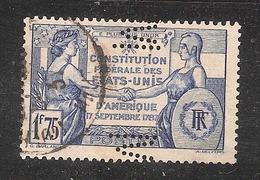 Perforé/perfin/lochung France No 357  M Société Alsacienne De Constructions Mécaniques  (11) - France