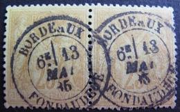 DF50500/11 - SAGE TYPE II (PAIRE) N°92 ☉ SUPERBE CàD De BORDEAUX DONDAUDEGE Du 13 JUIN 1886 - 1876-1898 Sage (Type II)